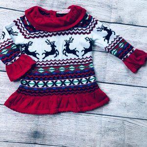 Like New Sophie & Sam 6-9m Christmas Sweater Dress